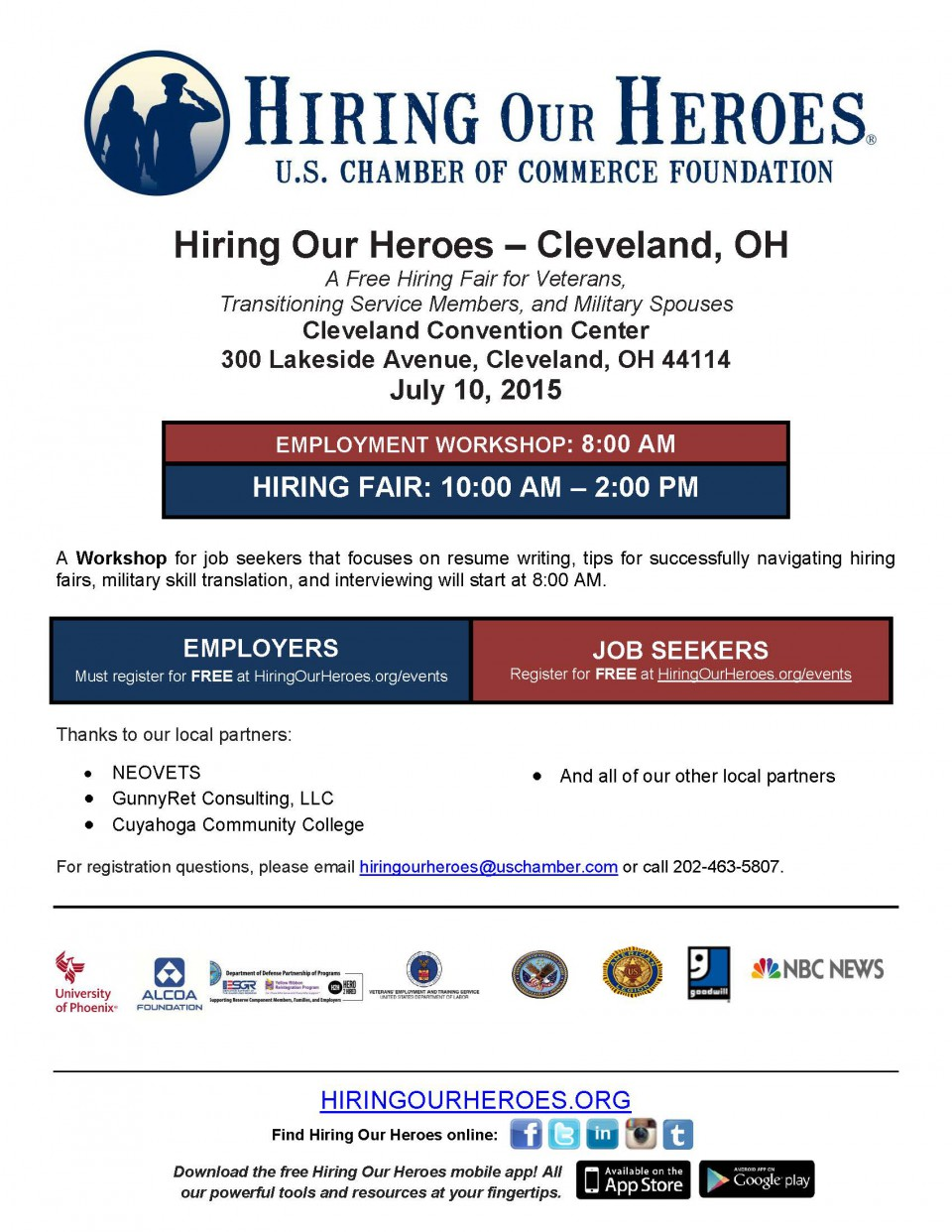 Hiring of Our Heroes Cleveland 2015