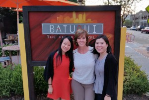 Mary (center) is pictured with our Asia Office colleagues during their visit to the USA. Julie Wang (L) and Linda Xu (R).